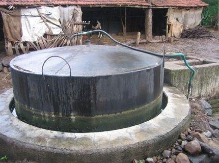 Самодельная биогазовая установка на участке