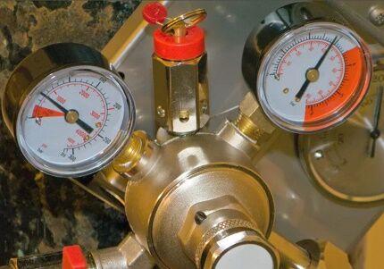 Измерительные приборы газгольдера
