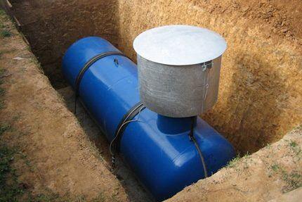 Газгольдер подземного монтажа