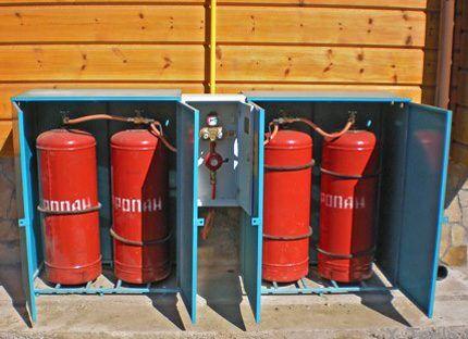 Газовая рампа под пропан