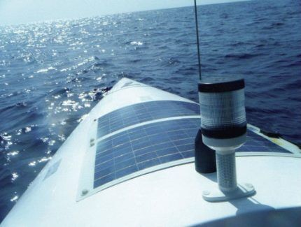 Гибкая панель на яхте