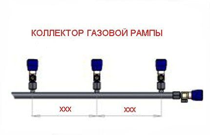 Коллектор газовой рампы