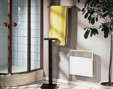 Подвесной конвектор в ванной