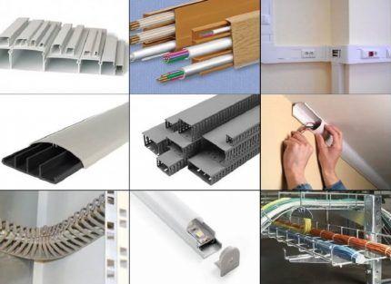 Виды кабель-каналов для открытой проводки