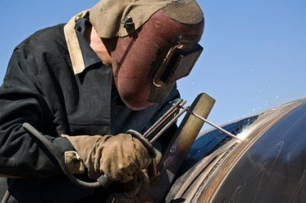 Сварка труб газопровода