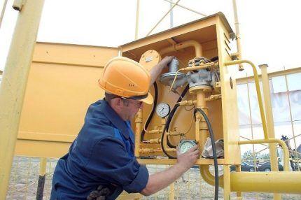 Редуктор для понижения давления газа