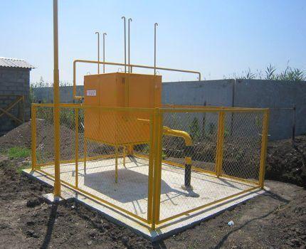Пункт редуцирования газа