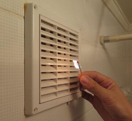 Огонь - не лучший способ проверки вентиляции