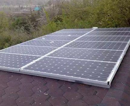 Рабоча солнечная батарея
