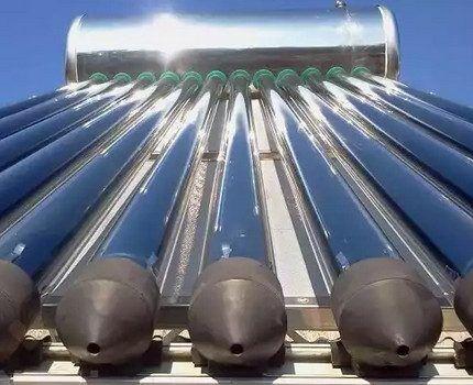 Вакуумный солнечный коллектор в работе