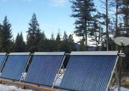 Вакуумный солнечный коллектор с каналом heat pipe