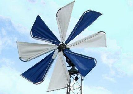 Ветрогенератор парусного типа
