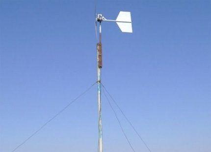 Ветрогенератор на мачте