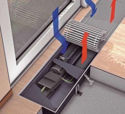 Монтаж конвектора к окну