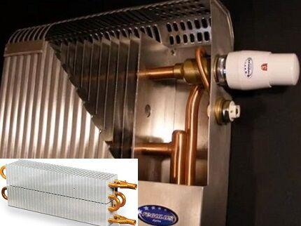 Медно-алюминиевый радиатор