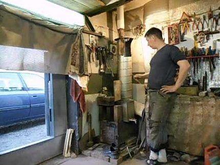 Отопление гаража чудо-печью