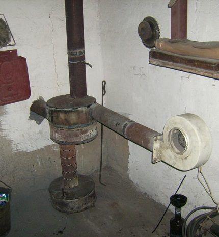 Самодельная печь на солярке или отработке