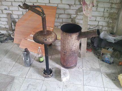 Самодельная печь для гаража