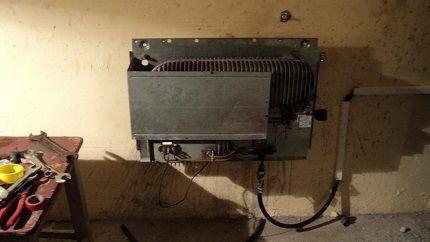 Газовый конвектор в гараже