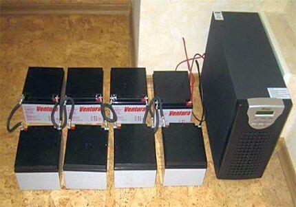 ИБС с системой внешних аккумуляторов