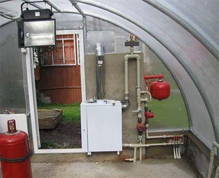 Газовый котел для обогрева теплицы