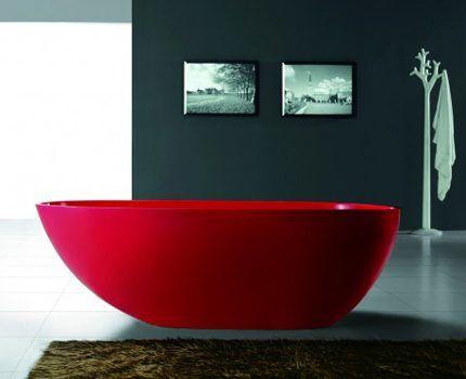 Цветные ванны из акрила