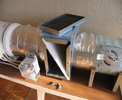 Фильтр в приточном воздуховоде