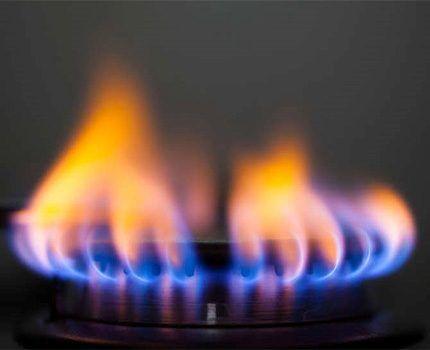 Неполное сгорание газа в конфорке