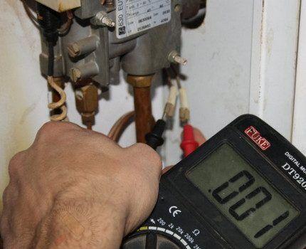 Диагностика автоматики газовых котлов