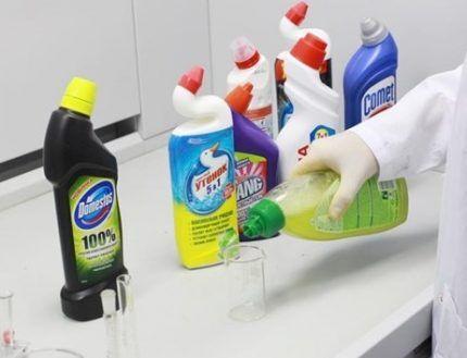 Чистящие средства для унитаза