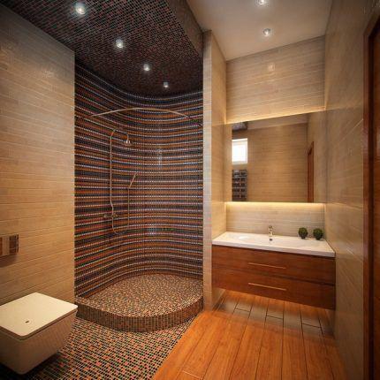 Дизайн кабинки из плитки