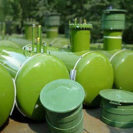 Газовое отопление дома от газгольдера и баллонов