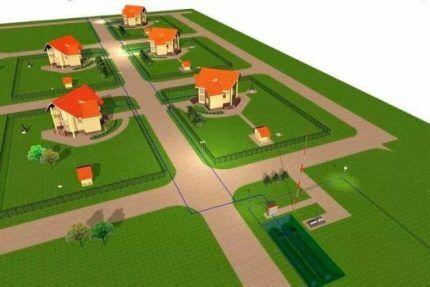 Газгольдерный парк в поселке