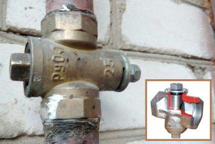 Пробковый газовый кран