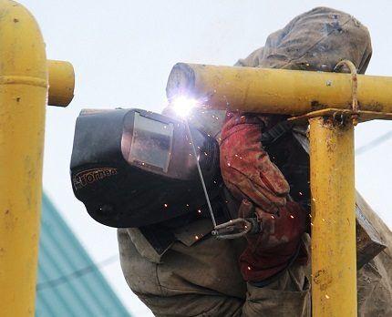 Врезка в газопровод проводится соответствующими службами