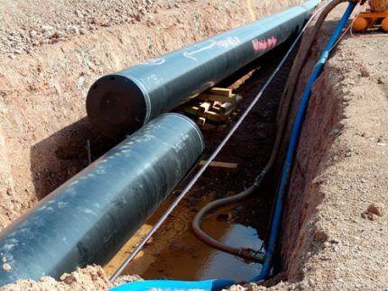 Опрессовка газовых труб под землей