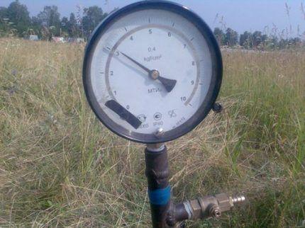 Манометр для опрессовки газопровода