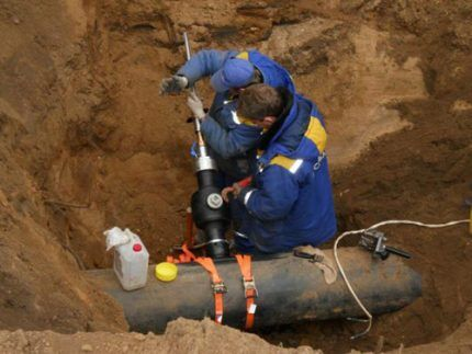 Подключение к магистральному газопроводу