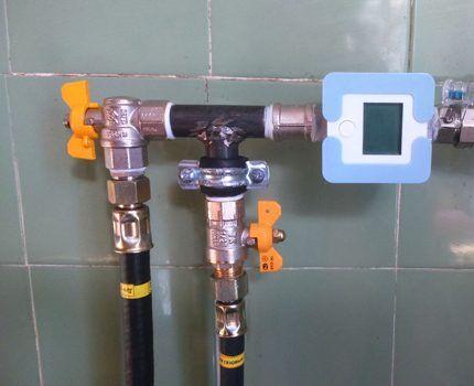 Установка газовых кранов