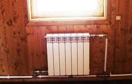 Пример однотрубной системы отопления