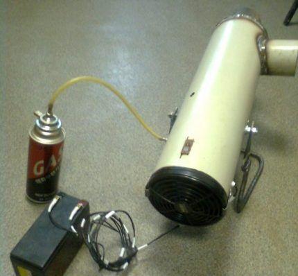 Подсоединение пушки к газовому баллончику