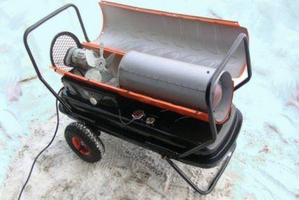 Самодельная тепловая пушка для гаража