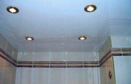 Точечные светильники по периметру