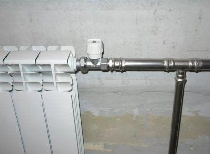 Подводка к радиатору