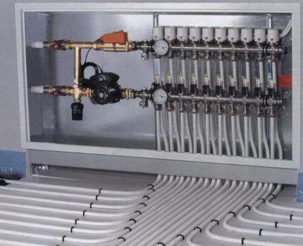 Отопительный насос с системой теплый пол