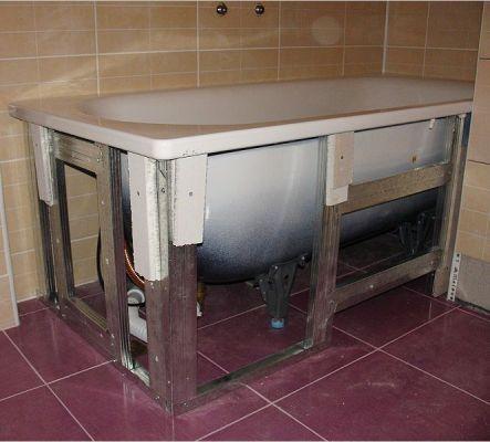 Монтаж ванны в ванной комнате