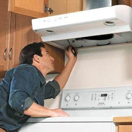 Как установить воздухоочиститель над плитой