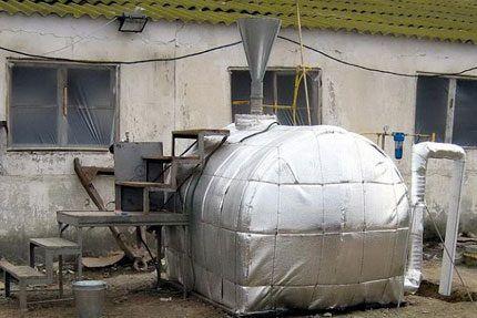 Вариант изоляции биореактора