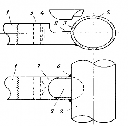Схема выполнения соединения