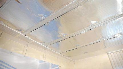 Монтаж Зебры на потолок